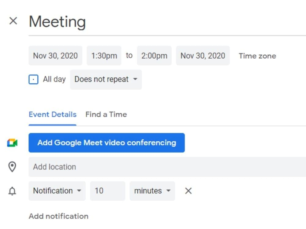 Arranging a discovery call meeting