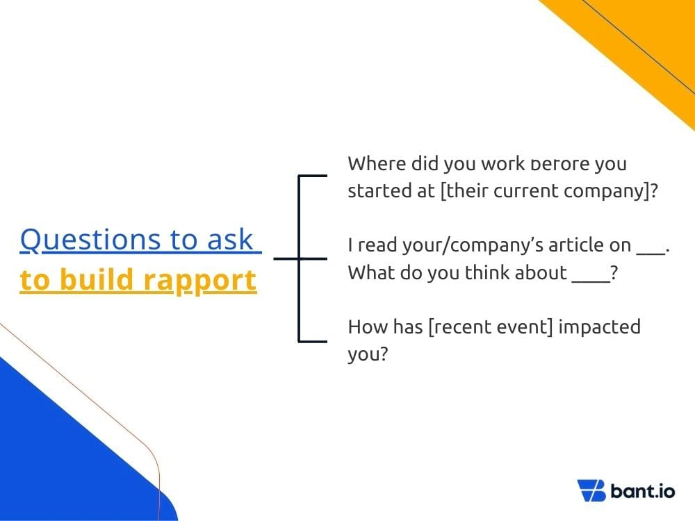 Questions to build rapport