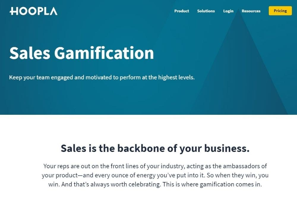 Hoopla for sales gamification