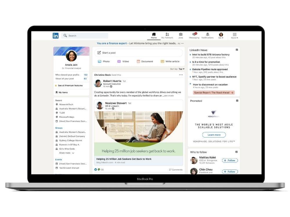 Find decision makers on LinkedIn.