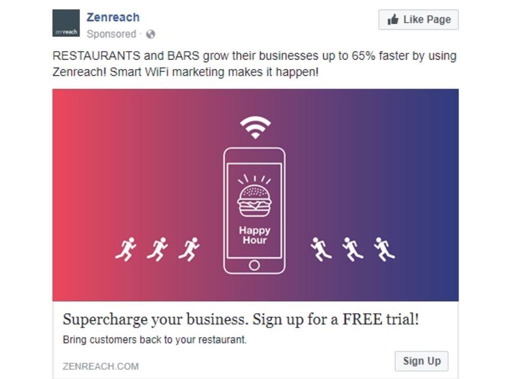 Best Facebook ads: Zenreach