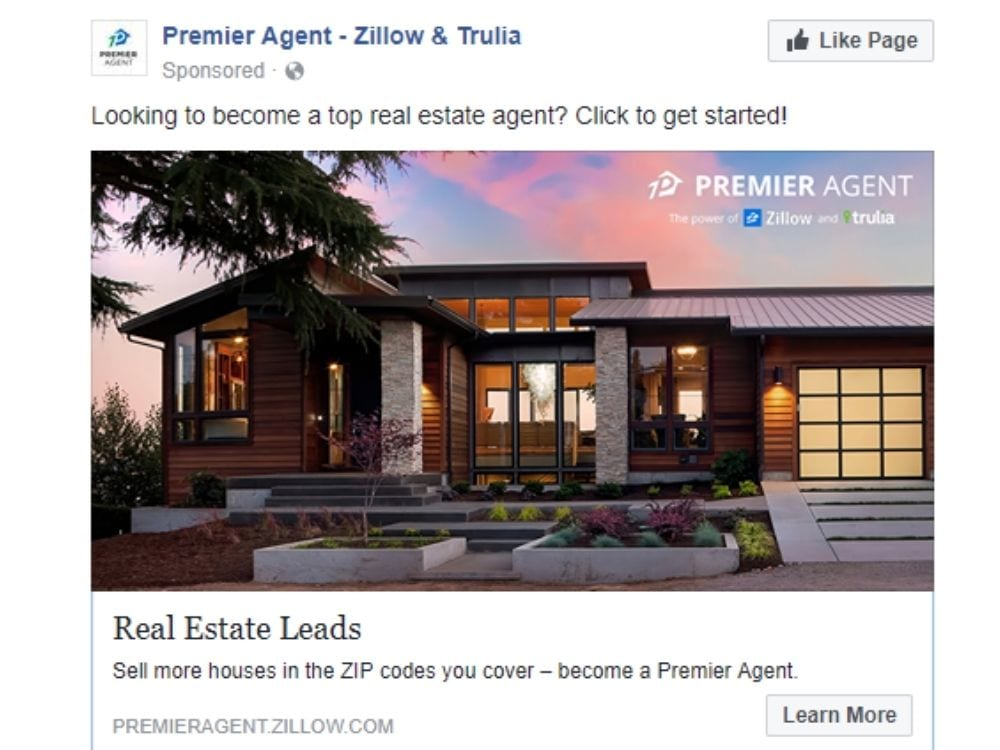 Best Facebook ads: Zillow