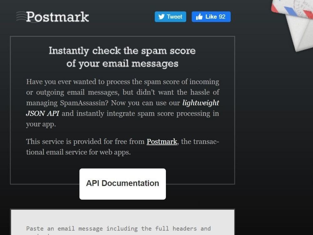 Spam Check by Postmark