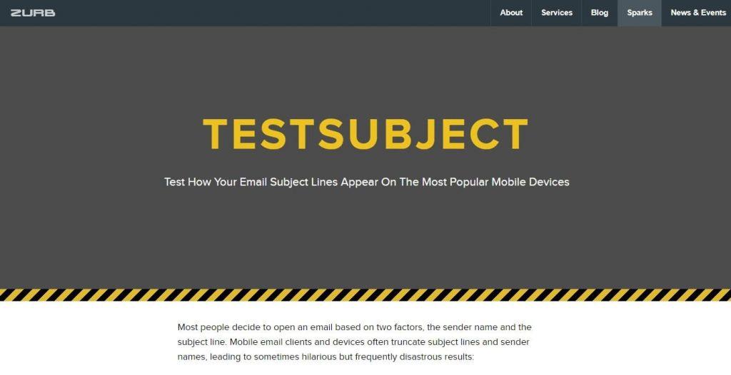 TestSubject by Zurb
