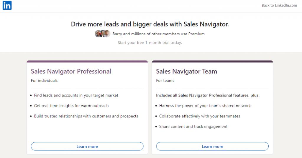 Sales Navigator automation tool