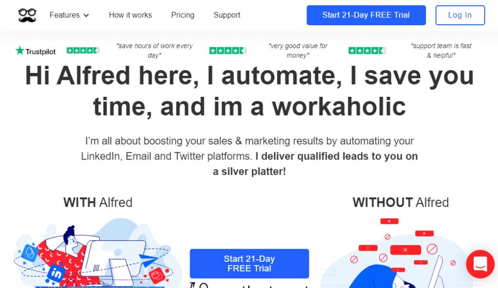 MeetAlfred LinkedIn Automation Tool
